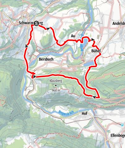 Karte / Schwarzenberg | Bezegg