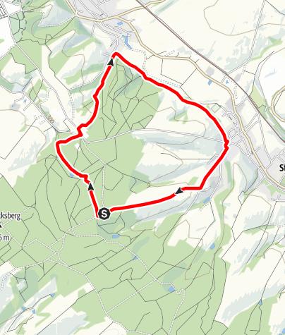 Karte / Flusserlebnispfad Lungwitzbach - Tourismusregion Zwickau (Für Schatzsucher und Prinzessinnen. Wanderungen mit Kindern)