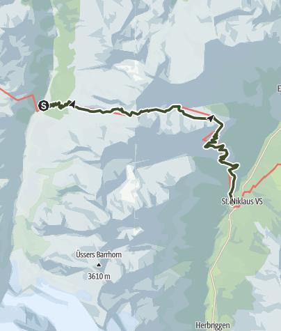 Map / HHT11 Stage 11 - Gruben to St. Niklaus