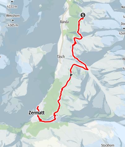 Carte / HHT11 Stage 13 - Europa Hut to Zermatt