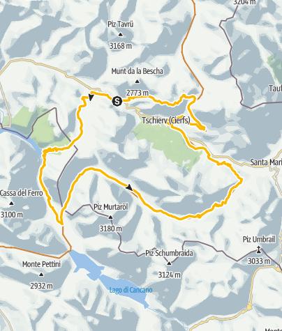 Karte / Rundtour Val Müstair