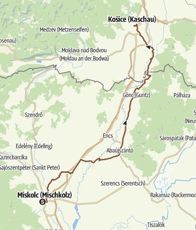 Térkép / Kassa- Miskolc ultramaraton 2019