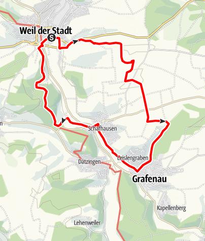 Karte / In einem stillen Tal bei Döffingen
