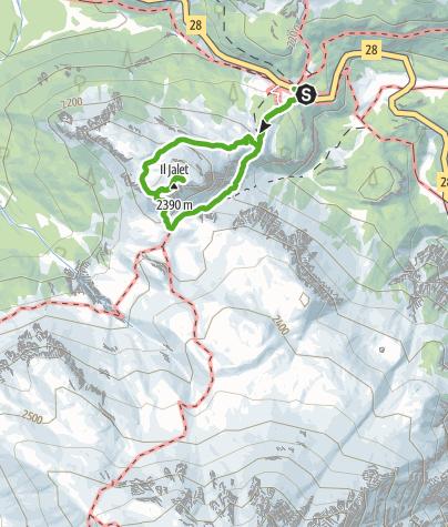 Kaart / Süsom Givè - Il Jalet - Süsom Givè (kurze Rundwanderung)
