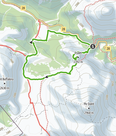 Kaart / Süsom Givè - Il Jalet - Süsom Givè (lange Rundwanderung)
