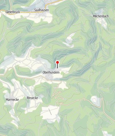 "Karte / Naturpark-Infozentrum ""Feuer & Wasser"" - Station Oberhundem"