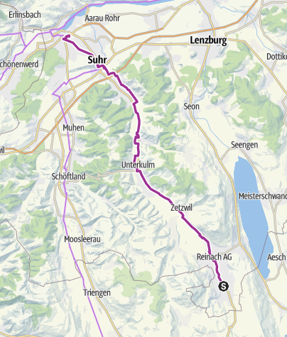 Karte / Wynental-Route: Von Menziken nach Aarau
