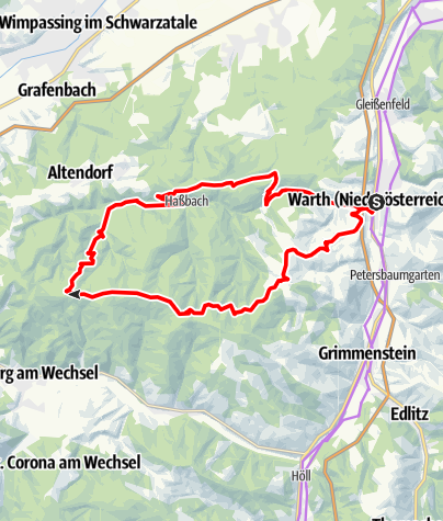 Mapa / Hassbachtal-Route E-Bike