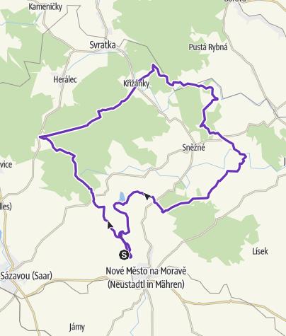 Mapa / Horská výzva 2020: Vysočina - LONG