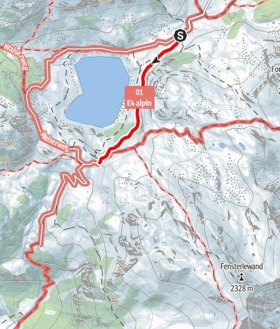 Karte / Zustieg Freiburger Hütte von der Formarinalpe