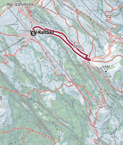 Map / Rigi First Weg