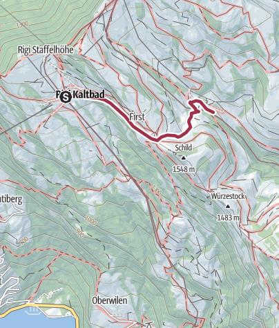 Map / Rigi Klösterliweg