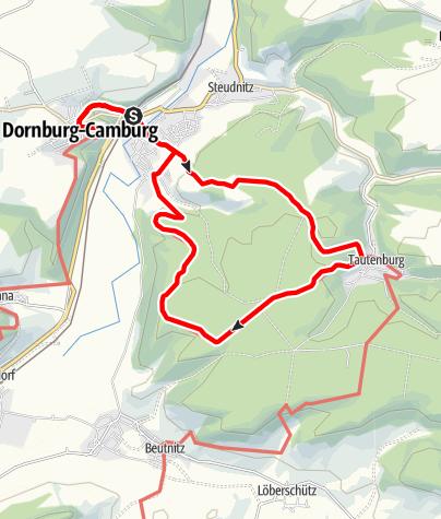 Karte / Tourentipp an der SaaleHorizontale
