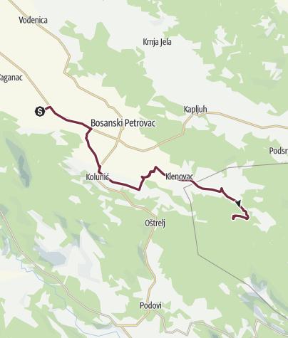 Map / Medno Polje - Drinić (Via Dinarica day 104)