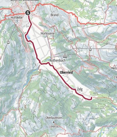 Map / Über den Talboden – von der Lenk bis zu den Simmenfällen