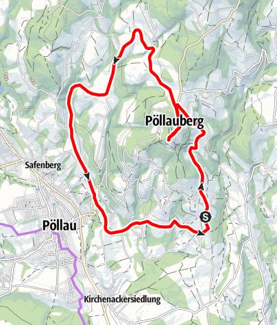 Karte / Radtour - Hotel Retter auf den Pöllauberg