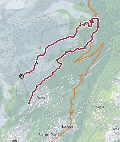 Karte / Alpage Tour