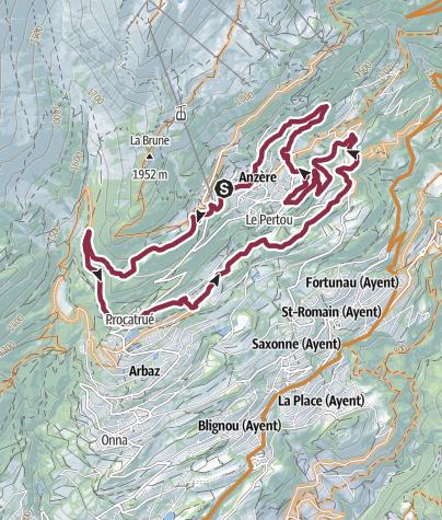 Karte / Chamossaire Tour