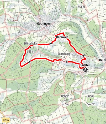 Karte / Über die Wacholderheide am Storrenberg ins Hülstal und zu Keltengräbern