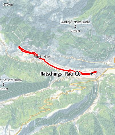 Карта / Wanderung entlang des Mareiter Baches