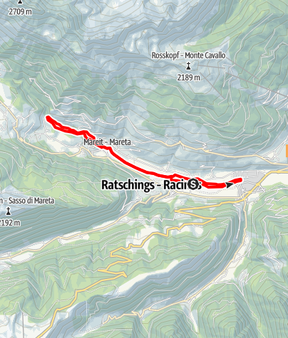 Karte / Wanderung entlang des Mareiter Baches