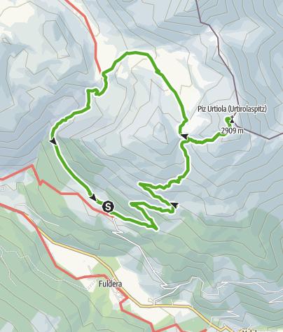 Map / Lü - Piz Terza - Pass Costainas - Lü
