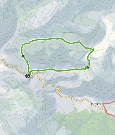 Karte / Süsom Givè - Chaschlot - Valbella - Süsom Givè