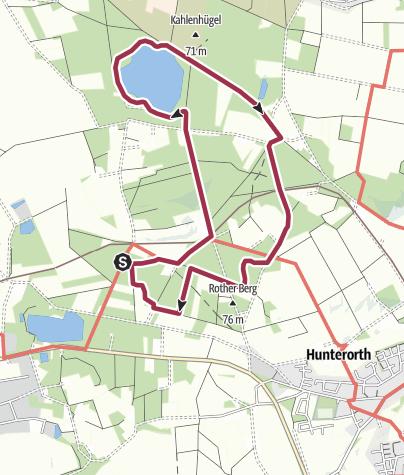 Karte / Teutoschleife Sloopsteener Seerunde