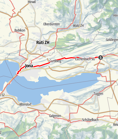 Karte / Zum Schwabenweg: Neuhaus - Rapperswil-Jona