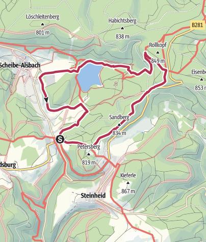 """Karte / Rundwanderung - """"Wenn Rennsteig auf den Panoramaweg Schwarzatal trifft"""" - Limbach"""