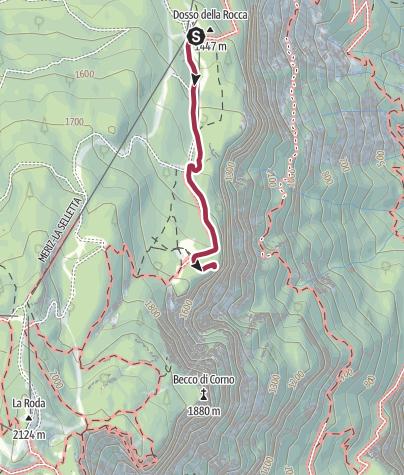 Map / Meriz - Malga Fai