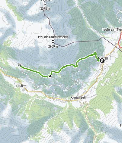 Karte / Müstair - Lais da Valpaschun - Lü
