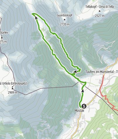 Karte / Müstair - Avignatal - Tabladé - Müstair