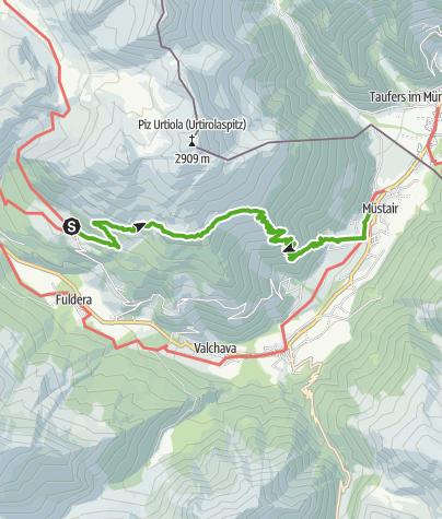 Karte / Lü - Alp Terza -  Müstair