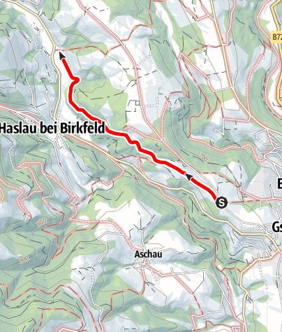 Karte / Wanderweg  Alte - Gasnerstraße