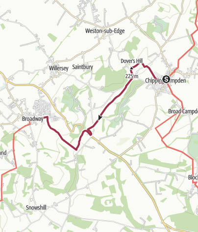 Map / Chipping Campden to Broadway