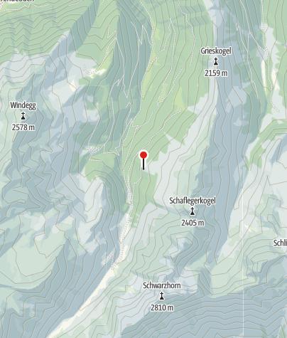Kaart / Furgges Alm 1.870 m im Fotschertal