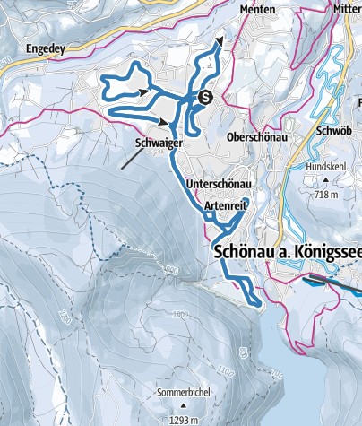 Karte / Langlaufloipen Schönau am Königssee