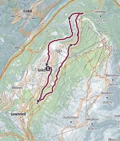 Karte / Grächen Loop