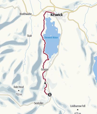 Kaart / Wanderung nach Keswick