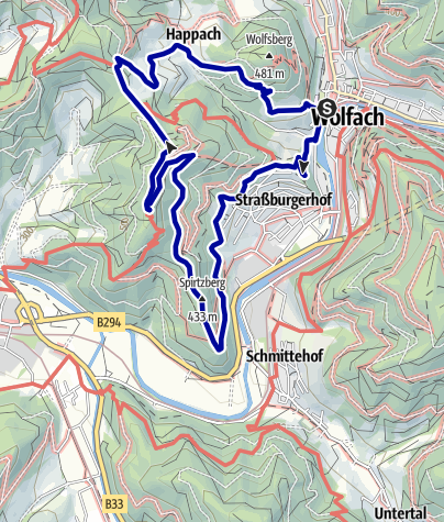 Karte / Wolfacher Kinzigpanorama