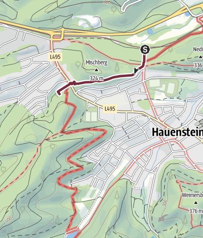 Karte / 15 Hauenstein - Bahnhof Hauenstein zu Platz 15