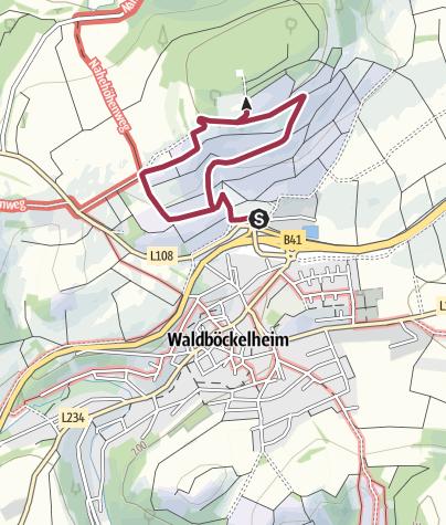 Karte / 8. Juni 2019: Wein- und Küstenwanderung in Waldböckelheim