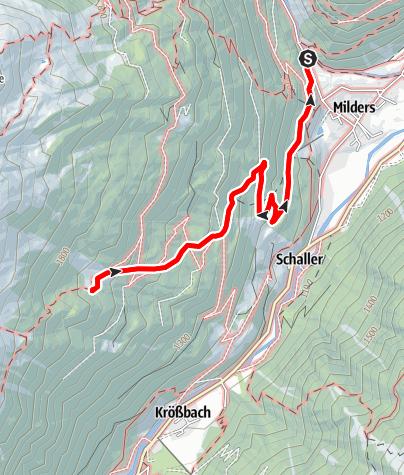 Karte / Milderaunalm (Variante über Milders)