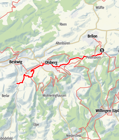 Map / Jakobsweg Westfalen: Brilon - Heringhausen