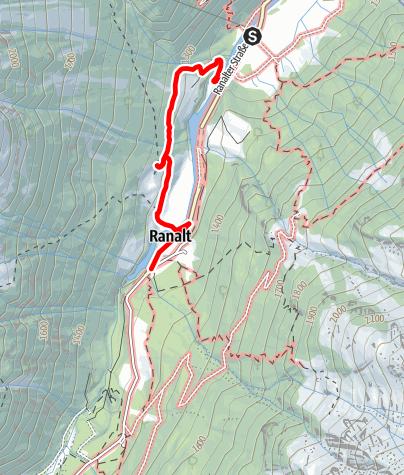 Karte / Falbeson - Oberhausalm - Ranalt