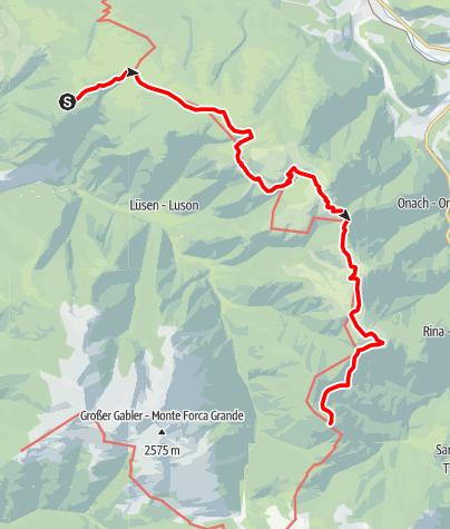 Kaart / Dolorama 1. Etappe