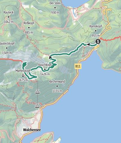 Karte / Herzogstand über den Reitweg