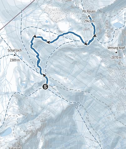 Map / Piz Rasass im Winter