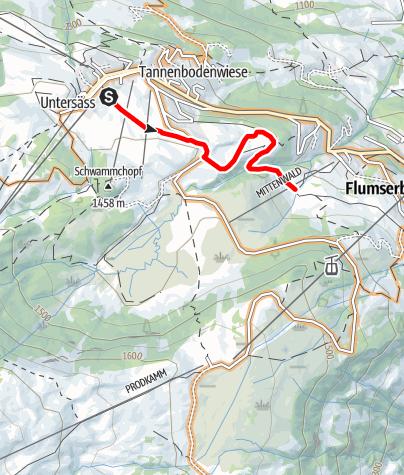 Map / Bike trail BlueBunny